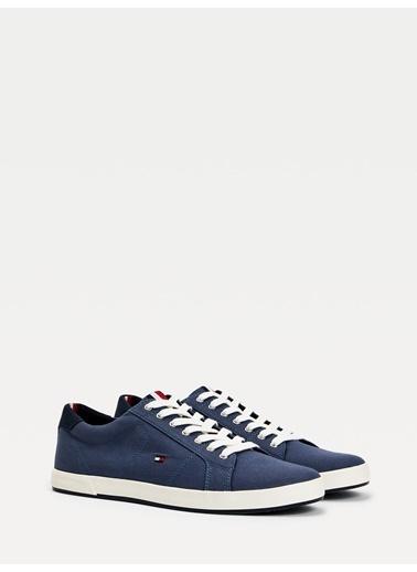Tommy Hilfiger Erkek Iconıc Long Lace Sneak Sneakers FM0FM01536 Mavi